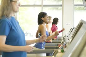 Safe At The Gym on the treadmill