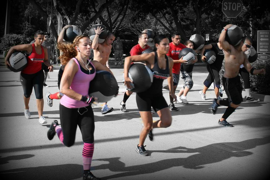 CrossFit crowd of people outside