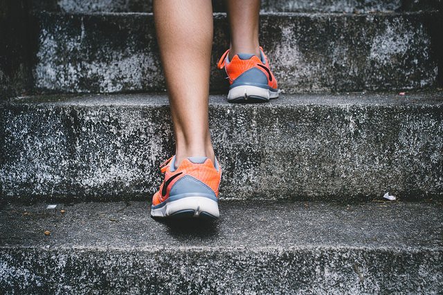 Fit in Four Weeks climbing stairs