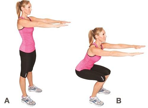 Calf muscles squats without weight