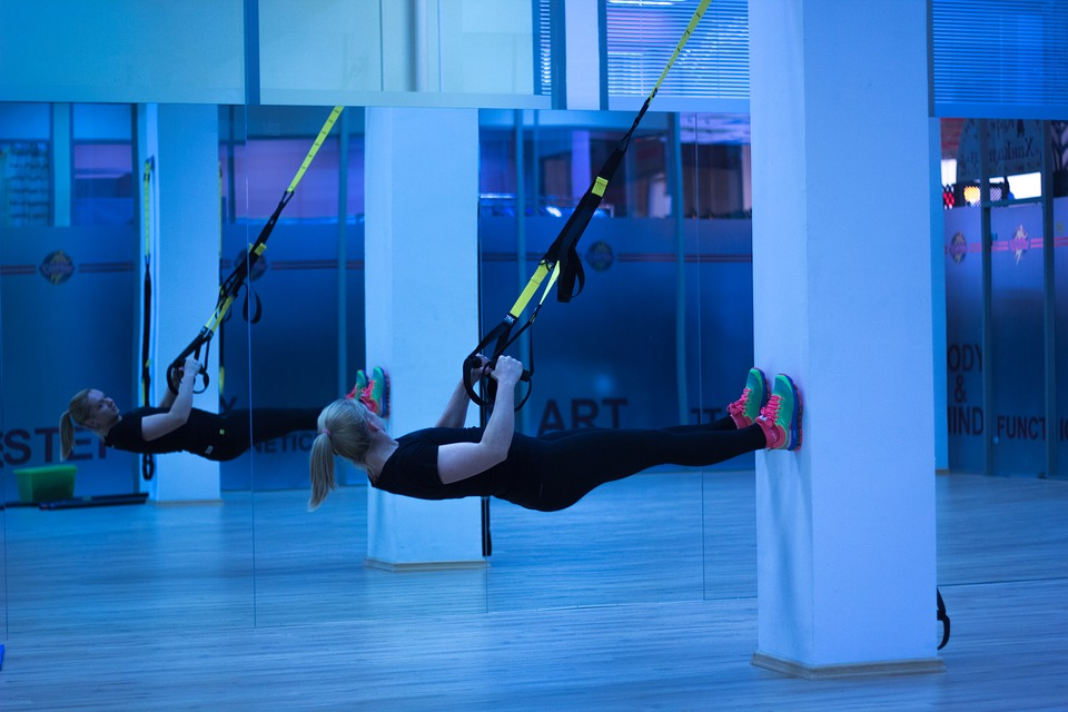 After A Workout woman trx