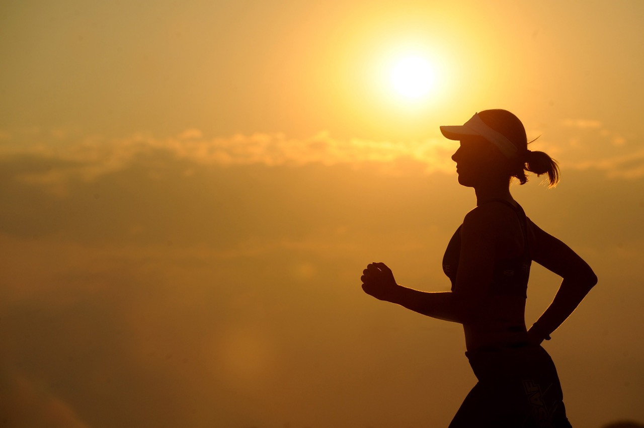 get fit by running along sunset