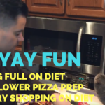 Feeling Full on Diet + Cauliflower Pizza Prep + Back Workout + Grocery Shopping – He and She Fitness