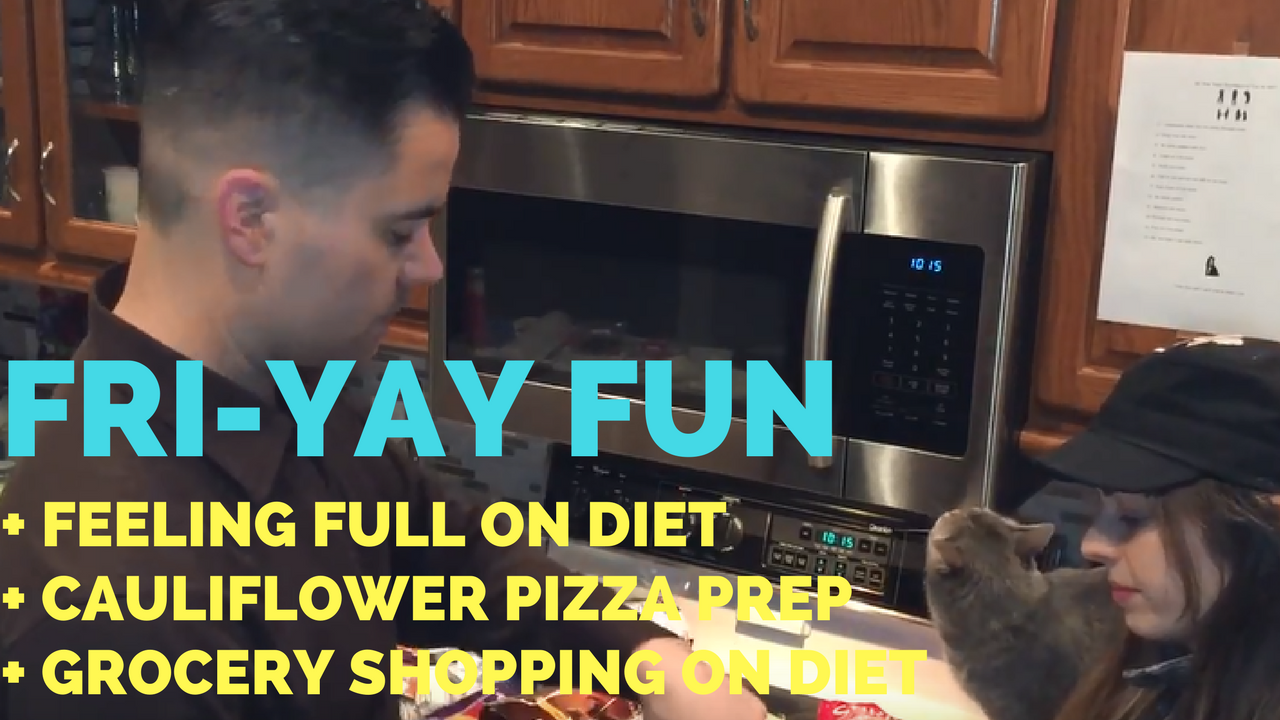 Feeling Full on Diet + Cauliflower Pizza Prep + Back Workout + Grocery Shopping