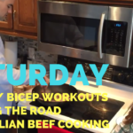 Cooking Eggs + Cable Chest Flyes + Errands + Mongolian Beef + Bicep Workout – He and She Fitness