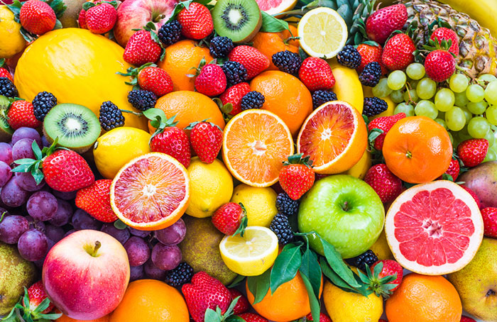 smoothie assortment of fruits