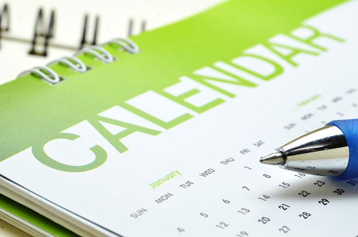 smoothie making calendar