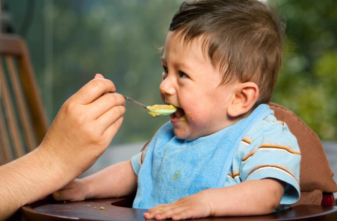 Food for weaning babies eating