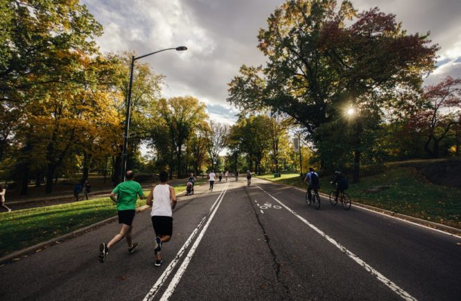 Running down the street