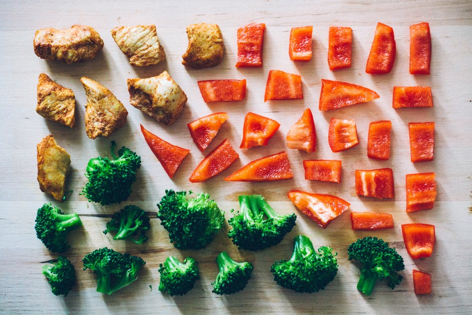 Eating Your Way to Weight Loss meat and veggies cut up