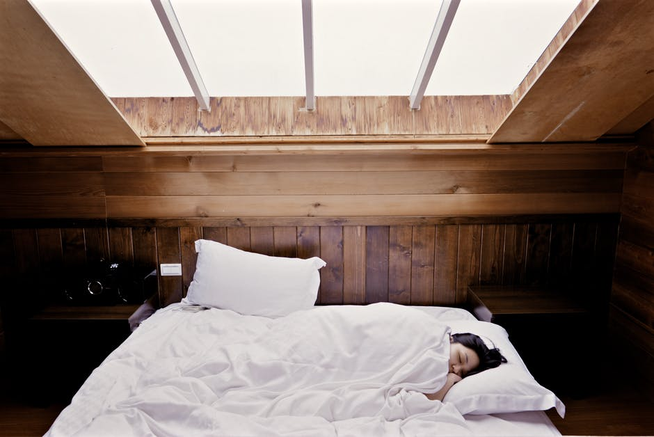woman in bed sleeping
