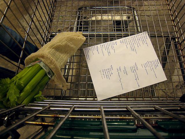 Dieting Tips vegetables in cart