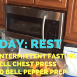 Rest Day + Fasting + Dumbbell Chest Press + Stuffed Bell Peppers Prep – He and She Fitness