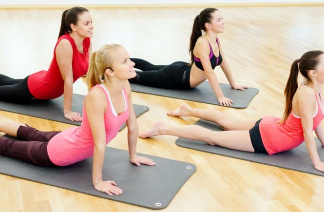 yoga benefits and people in classes
