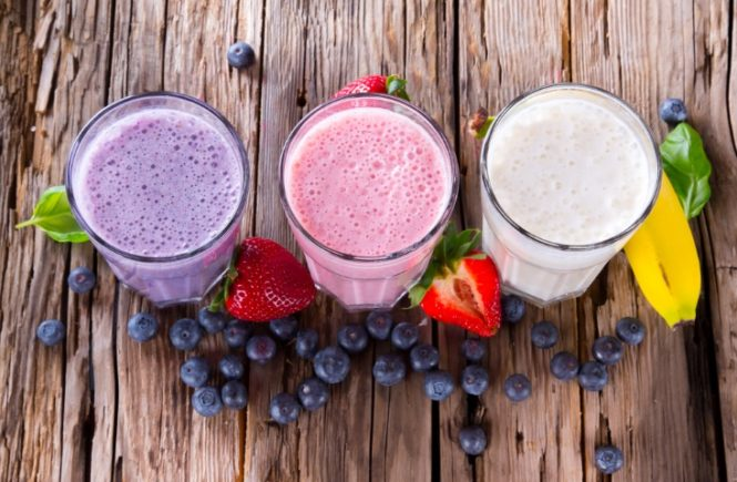 food items to eat smoothie shakes