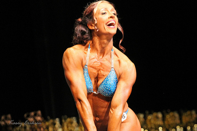 Muscle Growth woman bodybuilder