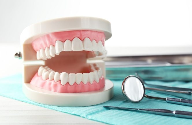 Denture Clinic dentures on table