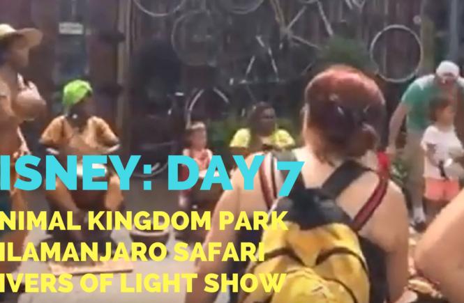 Disney Vacation Day #7: Animal Kingdom + Kilamanjaro Safari + Rivers of Light