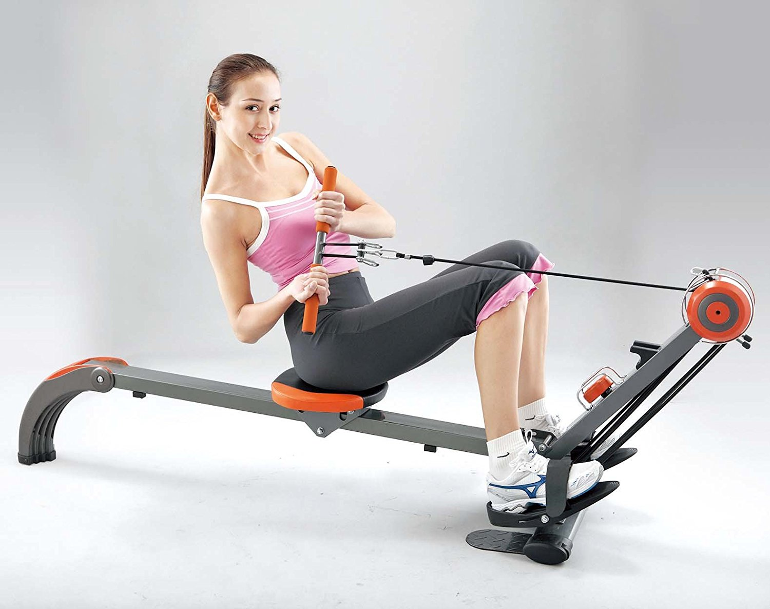 Rowing Machine woman in pink