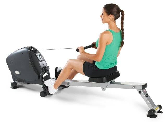 Rowing Machine woman in teal