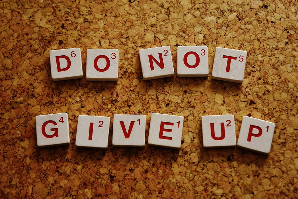 do not give up text
