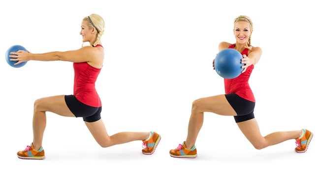 All About Stubborn Belly Fat | 3 Simple Beginners Exercises To Get Slimmer Waistline ball lunges
