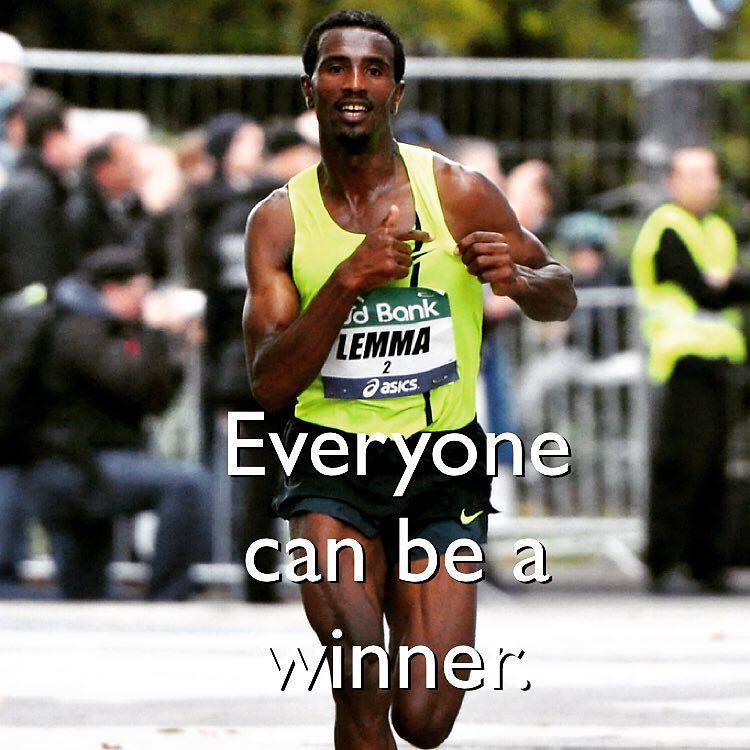 man running as a winner