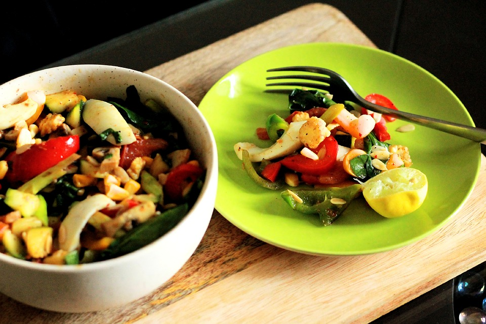 healthy food on a plate