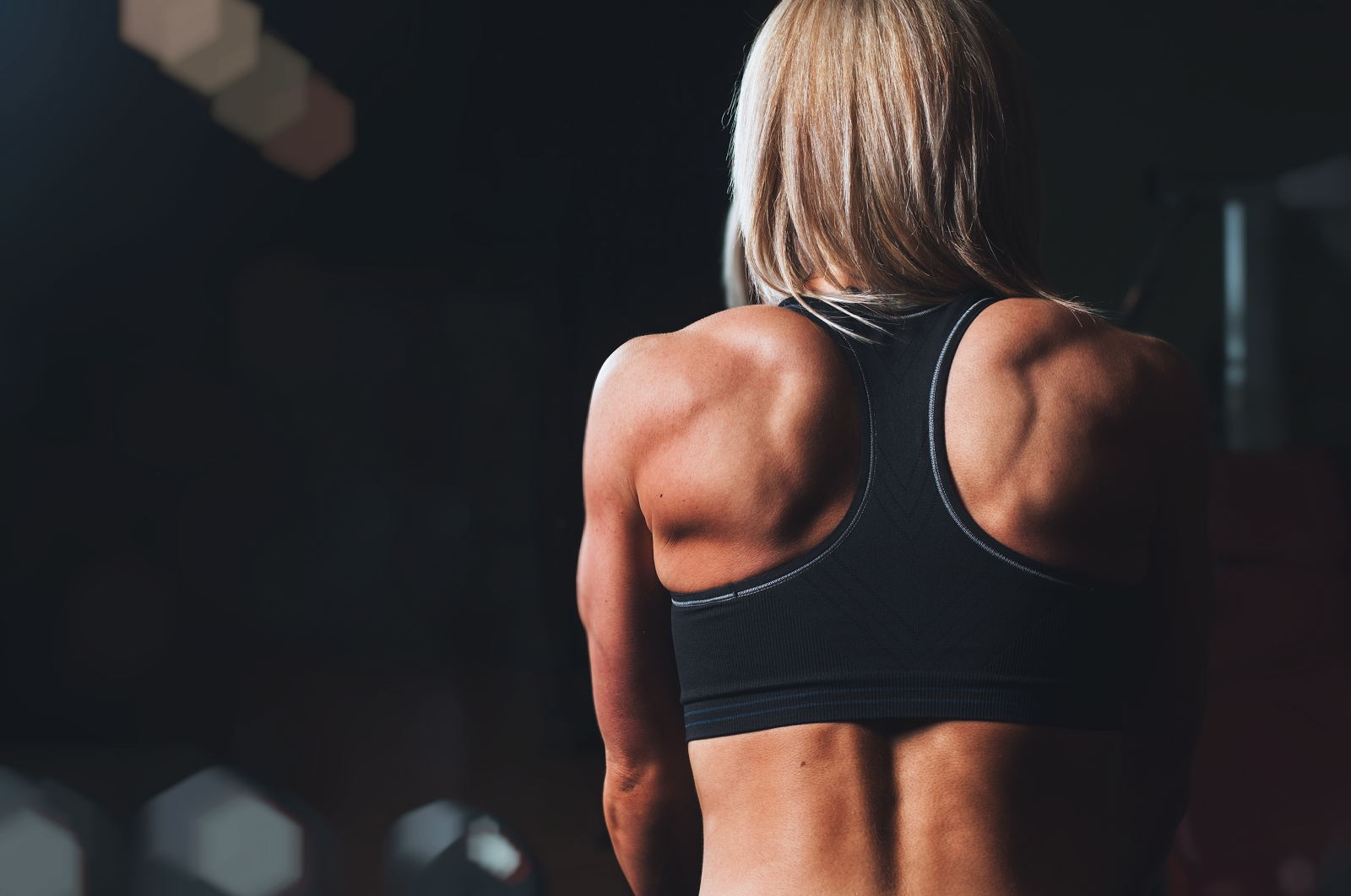 woman back in the gym