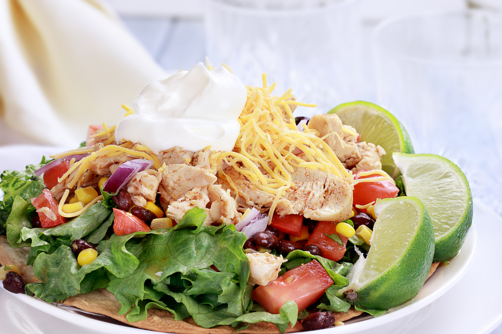 Chicken Tostada Salad lose weight recipe