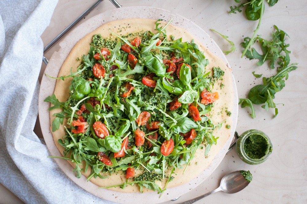 Pesto Pizza Salad lose weight recipe