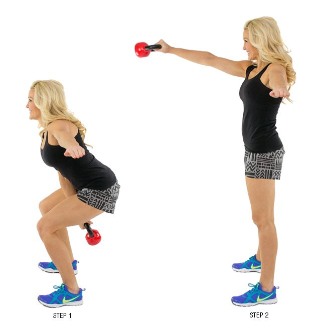 30-Minute Dumbbell Workout Program To Build Muscle woman forward bent over