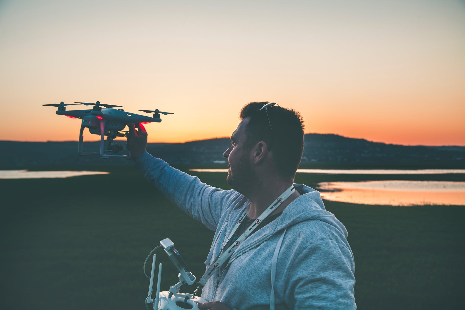 Important Pre-Flight Tips for New Drone Pilots man flying
