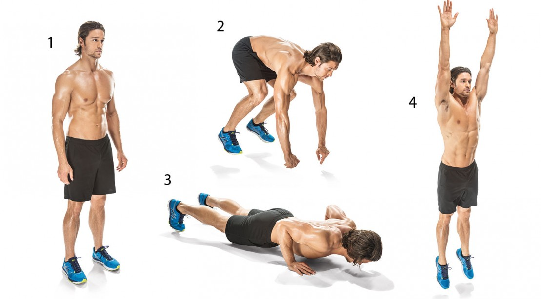 A Great Body Weight Workout You Can Do at Home burpees