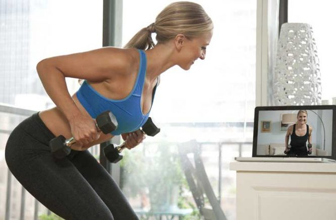 online fitness trainer